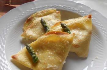 Ricetta crepes asparagi e prosciutto